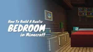 How To Build A Bedroom How To Build A Bedroom In Minecraft Youtube