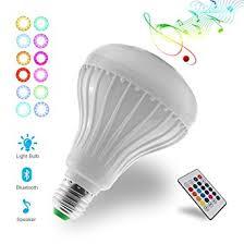 aidout light bulbs led rgb white color music light bulb e27