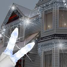 twinkling white led icicle lights m5 cool white twinkle led icicle lights led christmas lights