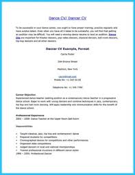 Dance Resume Templates Dance Resume Ballet Dancer Resume Sample Are Occasions Of Resumes