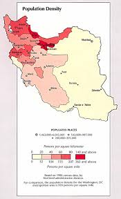 Population Density Map Of The World by Iran Population Density Map Iran U2022 Mappery