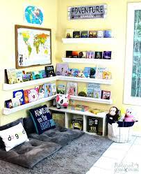 bookshelf decorations kid reading corner reading corner home decorating ideas in