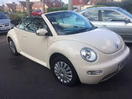 volkswagen beetle convertible in beige in leicester