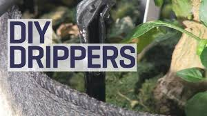 diy drippers drip irrigation for hydroponics youtube