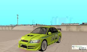 fast and furious evo mitsubishi lancer evo the fast and the furious 2 for gta san andreas