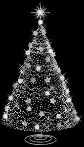 white and silver christmas tree christmas lights decoration