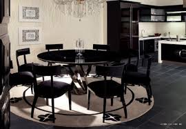 Black Lacquer Dining Room Furniture Round Dining Room Sets For Table Gallery Also With Lazy Susan