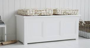 Large Storage Bench A New England White Storage Bench From The White Cottage Living
