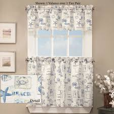 by the seaside coastal tier window treatment