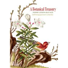 botanical calendars buchoz botanical treasury 2018 engagement calendar 9780764977091