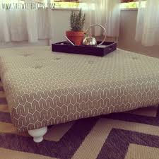 How To Make An Ottoman Out Of A Coffee Table Coffee Table Beautiful Coffee Table Cushion Top Ottoman Table