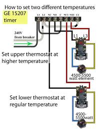 electric water heater wiring with diagram for thermostat