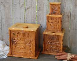 wooden kitchen canisters wooden canister etsy