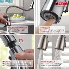 Delta Linden Kitchen Faucet by Delta Esque Single Handle Pull Down Kitchen Faucet U0026 Reviews Wayfair