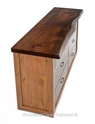 live edge desk with drawers solid wood dresser with live edge top woodland creek furniture
