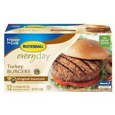 butterball seasoning butterball turkey burgers original seasoned 4 lb 12 ct