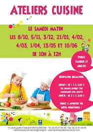 affiche atelier cuisine affiche ateliers cuisine en famille centre social croix mercier