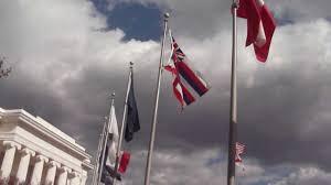 Confederate Flag Alabama Avenue Of Flags Alabama State Capitol Montgomery Youtube