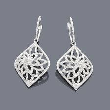filigree earrings diamond filigree earrings 1 35ct