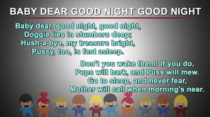 baby dear good night good night kids poems in english nursery