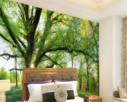 3d Wallpaper For Living Room by Beibehang Natural Sunshine Forest Tree Beautiful Photo 3d