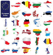 European Union Countries Map by Flags Of The Member Countries Of The European Union Overlaid