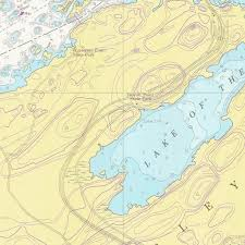 St Lawrence River Map Print Of St Lawrence River Whiskey Island Shoal To Bartlett Point