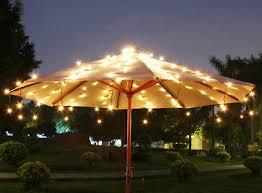 Patio Lighting Solar The Lights Tiki Pinterest Gardens Umbrella