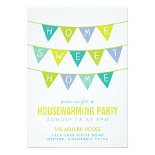 housewarming party invitations bunting and stripes housewarming party invitation card