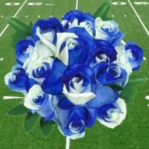 white and blue roses blue white roses