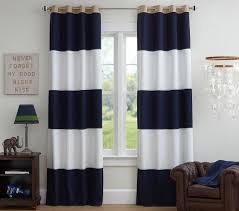 Pottery Barn Sailcloth Curtains by Rugby Blackout Curtain Navy White Pottery Barn Kids