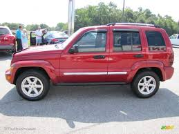 liberty jeep 2005 inferno red crystal pearl 2005 jeep liberty limited exterior photo