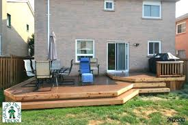 low to ground deck bracing a free standing deck ground level deck