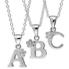 children s initial necklace for baby jewelry and children s jewelry the jewelry vine