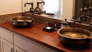 bathroom countertop ideas wood countertops in bathroom bathroom done butcher block