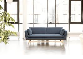 sofa canapé scandinavian design sofa solid wood fabric 3 seater canape