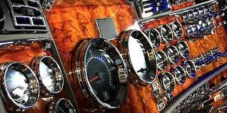 peterbilt 389 interior lights 75 chrome shop big rig accessories