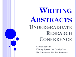 format of an abstract for a research paper how to write an abstract for the undergraduate research
