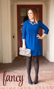 what to wear on thanksgiving day 4 ways to style a blue dress the chic site