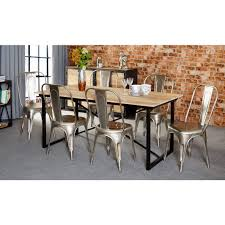 furniture kitchen table industrial kitchen table furniture simple trapezoid steel legs with