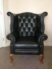 Leather High Back Armchair Leather High Back Chair Armchairs Ebay