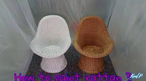 how to paint rattan furniture rattan möbel lackieren spraydose