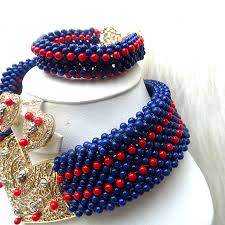 red crystal beads necklace images Prestigeapplause blue infused with red african choker coral beads jpg
