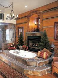 log cabin bathroom ideas master bath fireplace rustic master bathroom designs tsc