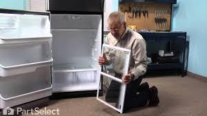 frigidaire glass door fridge refrigerator repair replacing the spill safe glass shelf with