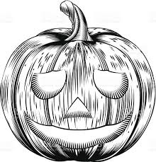 vintage halloween illustration vintage halloween pumpkin stock vector art 184244304 istock