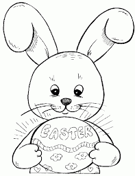 simple easter bunny coloring pages google search lindsay anne