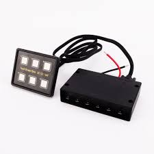6 way capacitive touch sensitive screen led switch panel w