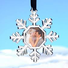 snowflake ornament place card holder