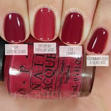 comparison of fall berry nail colors fall nails 2016